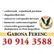 Gabona Ferenc vízszerelés-gyorsszolgálat