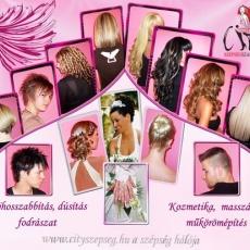 City Szépségszalon, hajhosszabbítás, hajdúsítás, fodrászat, kozmetika, masszázs, pedikűr, manikűr, műkörömépítés Csepelen