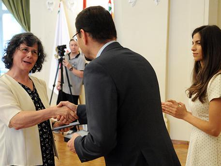 Mudra Anna Mária is a kitüntetettek között van (forrás: budapest.hu)