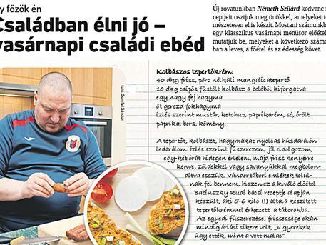 A Csepeli Hírmondó új rovatában Németh Szilárd országgyűlési képviselő kedvenc receptjeit találjuk