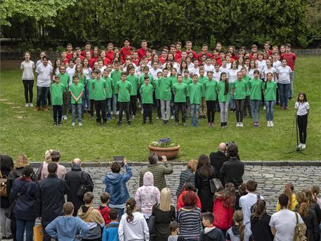 Csepeli diákok a PIM-ben (fotó: Szigetváry Zsolt – MTI)
