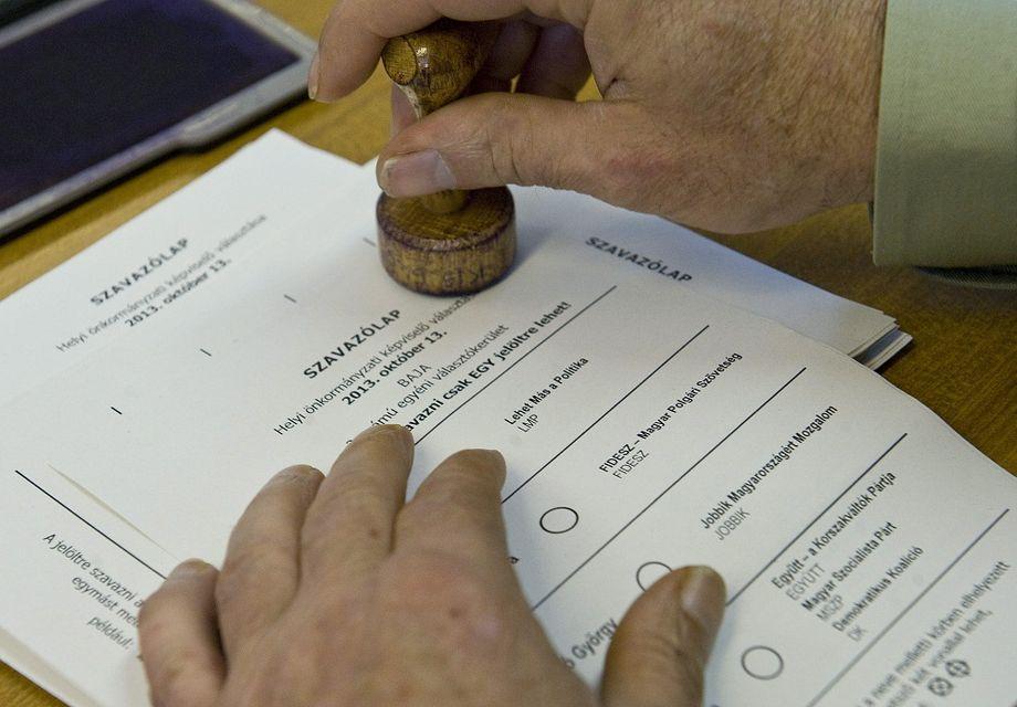 Szavazólap egy korábbi választásról