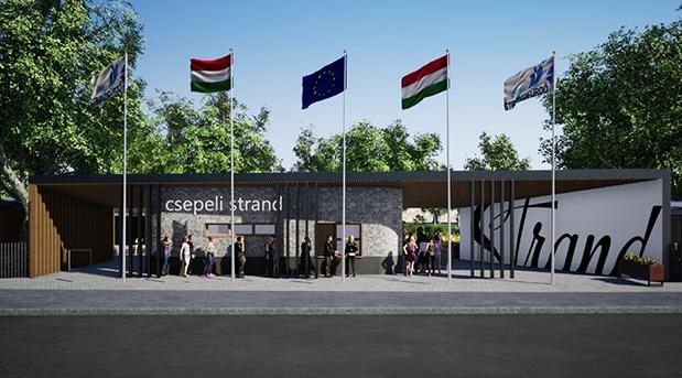 Látványterv az új főbejáratról, forrás: csepel.hu