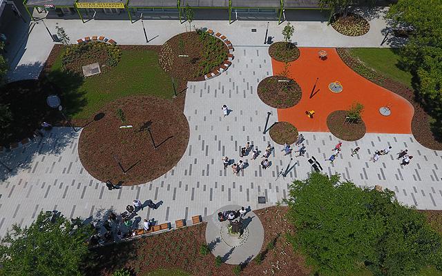 A park felülnézetből (forrás: budapest.hu)