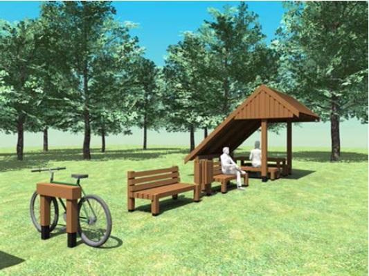 Felújítják a pihenőhelyeket (forrás: Pilisi Parkerdő Zrt.)